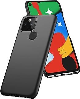 Google Pixel 4a 5G ケース A-VIDET PC素材 指紋防止 超薄型 衝撃吸収カメラ保護傷付き防止 Google Pixel 4a 5G 全面保護カバー(ブラック)