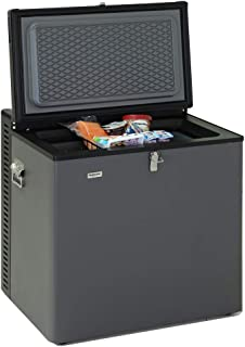 SMETA Electric LPG AC/DC Propane Gas Absorption Chest Freezer RV,2.4 Cu Ft,Black