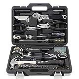 Juego de herramientas de 75 piezas para caja de herramientas, combinación manual multifunción para el hogar, conjunto de herramientas para el hogar, color negro