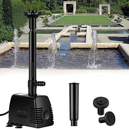 YAOBLUESEA 1000L/h 22W Garten Springbrunnenpumpe Teichpumpe Wasserspielpumpe Bachlaufpumpe Wasserpumpe Fontäne