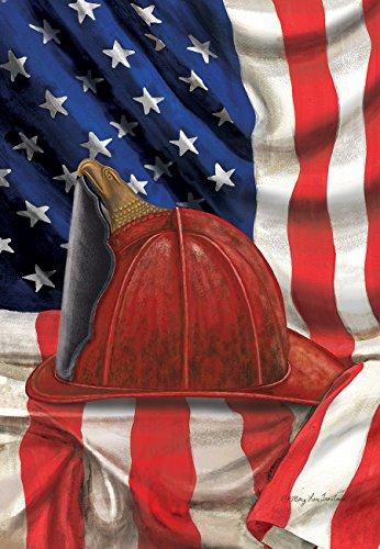 Feuerwehr Helm Garten Flagge Rettungsdienst Feuerwehr Patriotische 31,8x 45,7cm