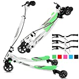 Y Flicker Scooter, Wiggle Scooter for Kids, 3 Wheels Push Swing Scooter Foldable Speeder Tri Slider Kickboard for Ages 5-8