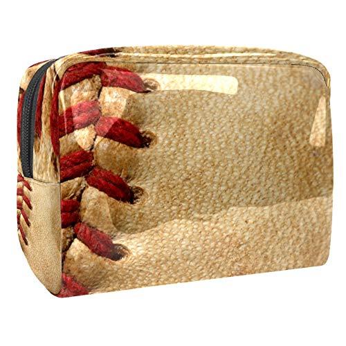 Béisbol Deportes Multifuncional Maquillaje Cosmético Bolsa 7.3x3x5.1 pulgadas Viaje Maquillaje Bolsa/Embrague Bolsa/Cosméticos Bolsa de Maquillaje