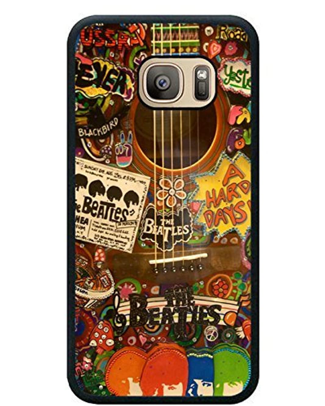 The Beatles Hippie Guitar Black Shell Phone Case Fit For Samsung Galaxy S7,Newest Cover