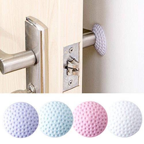 Accrie stille deur muur beschermer anti-botsing pad rubber pad deurkruk slot beschermende pad kleur willekeurig