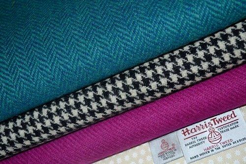 Harris Tweed Stoff 100% reine Schurwolle gemischt Bundle 3x 36,5/25cm auch als M & Hälfte...