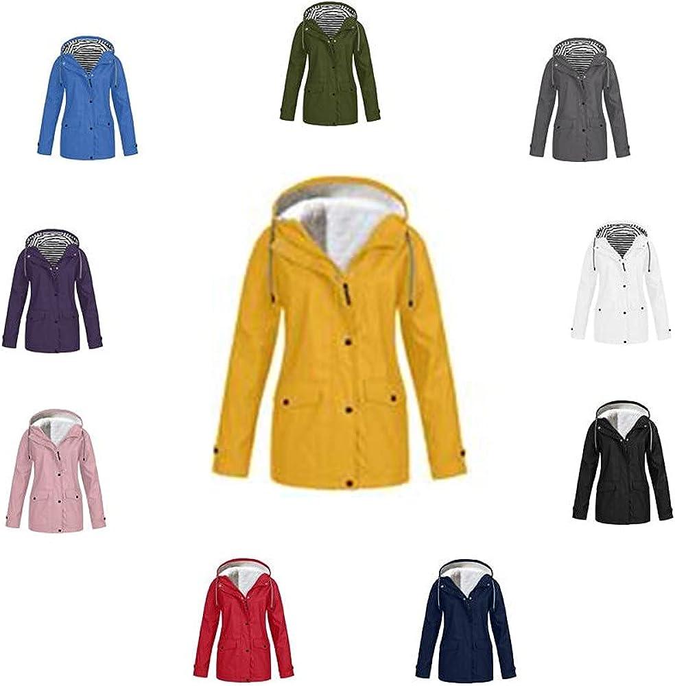 Jackets Women's Solid Hooded Jacket Waterproof Lightweight Windproof Coats