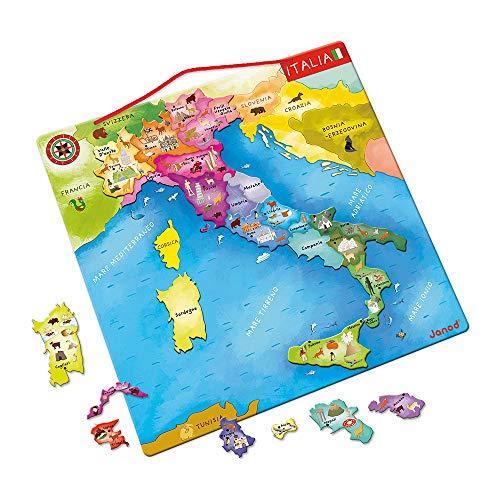 puzzle magnetico Janod - Mappa d'Italia magnetica 20 pezzi (legno)