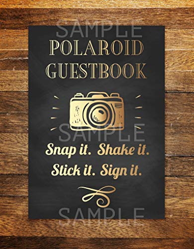 Polaroid Guest Book, Birthday Party Photo Guest Book Sign, Photo Guestbook, Photo Guestbook Sign, Photo Guest Book Wedding PRINTABLE