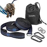 LeaderPro 2 Sangles pour Hamac, 3m*2,5cm, Portée Maximale de 400kg, Accessoires Hamac de Camping, avec 2...