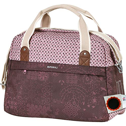 Basil Schultertasche Boheme Carry All m. Reißverschluss 18 Liter fig red+Flicken