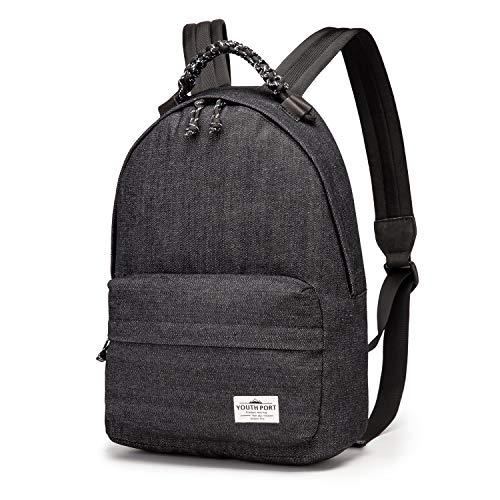 "Unisex School Backpack Casual Vintage Canvas Lightweight 13"" Laptop College Bag"