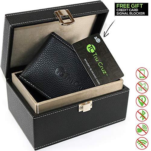 Faraday Box für Autoschlüssel & Signalblocker Tasche von Tru Cruz | Schlüsselloser Zugang Autoschlüssel Aufbewahrungsbox | Wahrsicherung RFID Blocking Security Box | Bonus Signal Blocking Kreditkarte