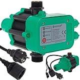 KESSER Druckwächter Druckschalter | 10bar | Pumpensteuerung | Hauswasserwerk | Gartenbewässerung | Mit Kabel | konstanten Wasserdruckl | Garten & Haus | automatisches Ein- und Ausschalten | Grün