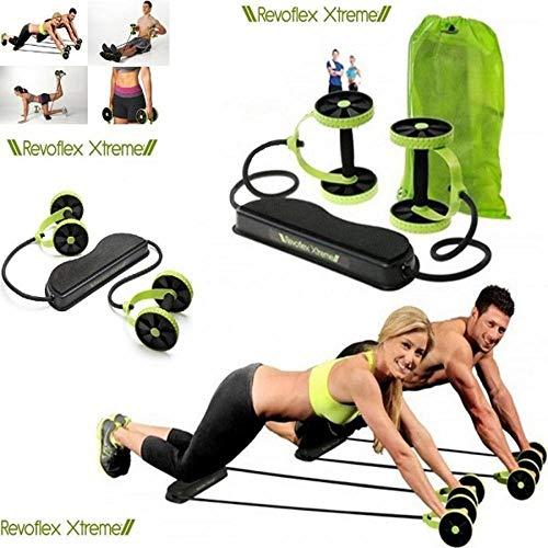 Kit musculação fitness completo academia em casa revoflex elastico roda abdominal extensor para braços e pernas emagracedor
