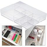 Hausfelder- Cajones organizadores, sistema de almacenamiento para cocina, oficina, tocador, maquillaje, variable y transparente, de plástico, Set C (5-teilig)