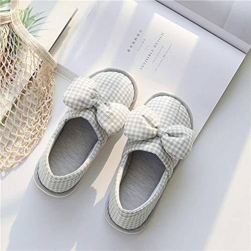 B/H Ciabatte sanitarie,Pantofole con Plateau Antiscivolo, Borsa Impermeabile con Moon Shoes-H_M (37-38),Pantofola di Lino