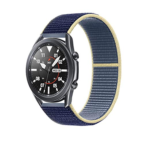 YGGFA 20 22mm Watch Band for Gear S3 Frontier Strap Galaxy Watch 3 45mm 41mm 46 Active 2 44mm 40mm Nylon para Huawei Watch GT2E / 2 Strap 42 (Band Color : Alaskan Blue 45, Band Width : 20mm)