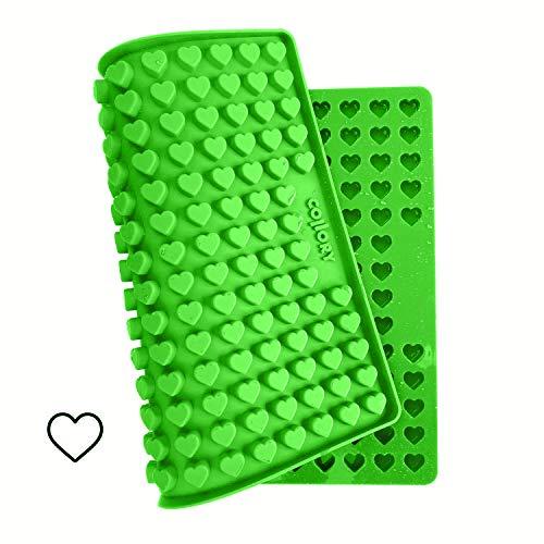 Collory Mini Herz (1,5cm) Silikon Backform für Hundekekse & Hundeleckerlis, Pralinenform, Schokoladenform, Antihaftend und Lebensmittelecht (BPA-Frei)