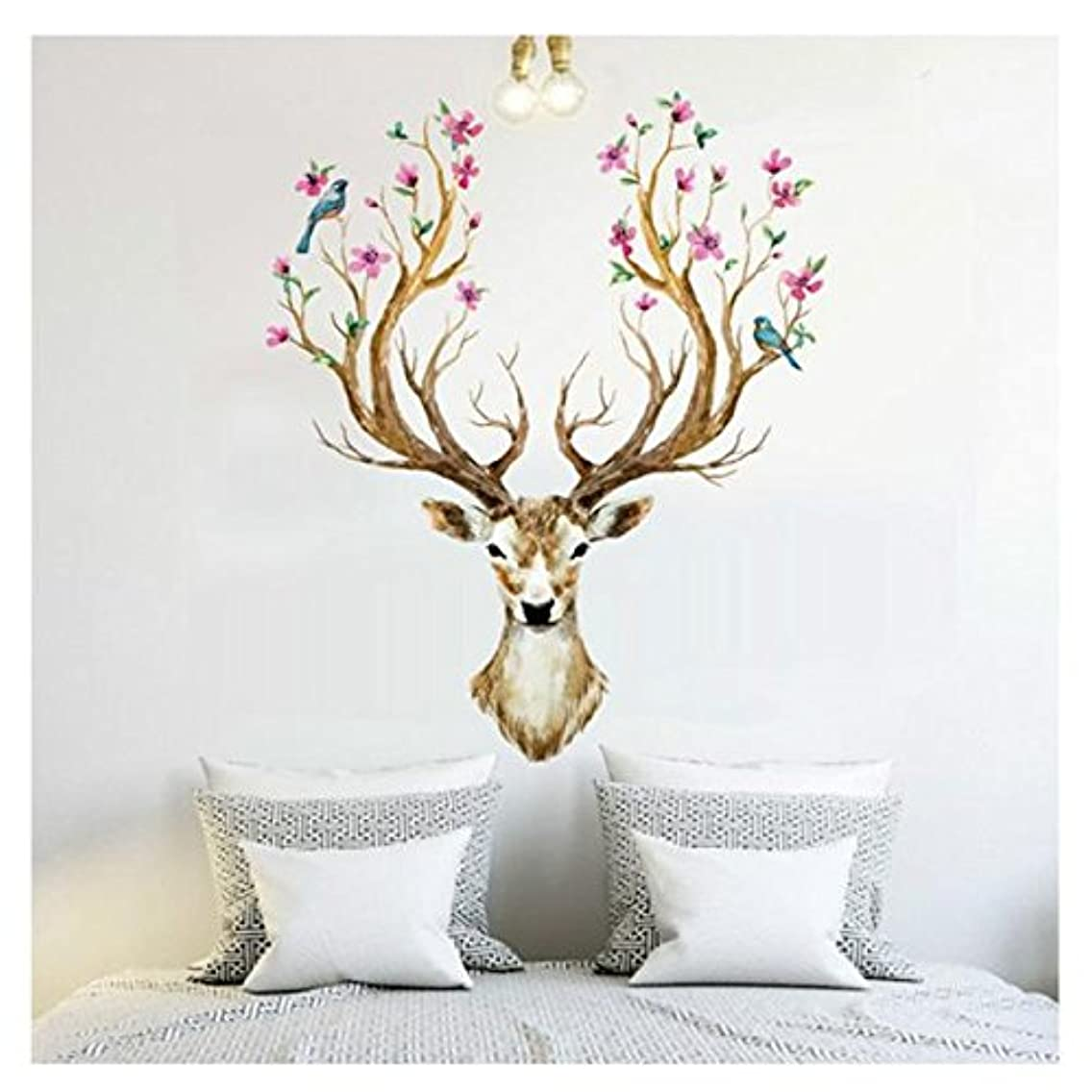 Wall Stickers,Baomabao 3D Plum flower deer Wall Stickers Removable Waterproof Home Decor