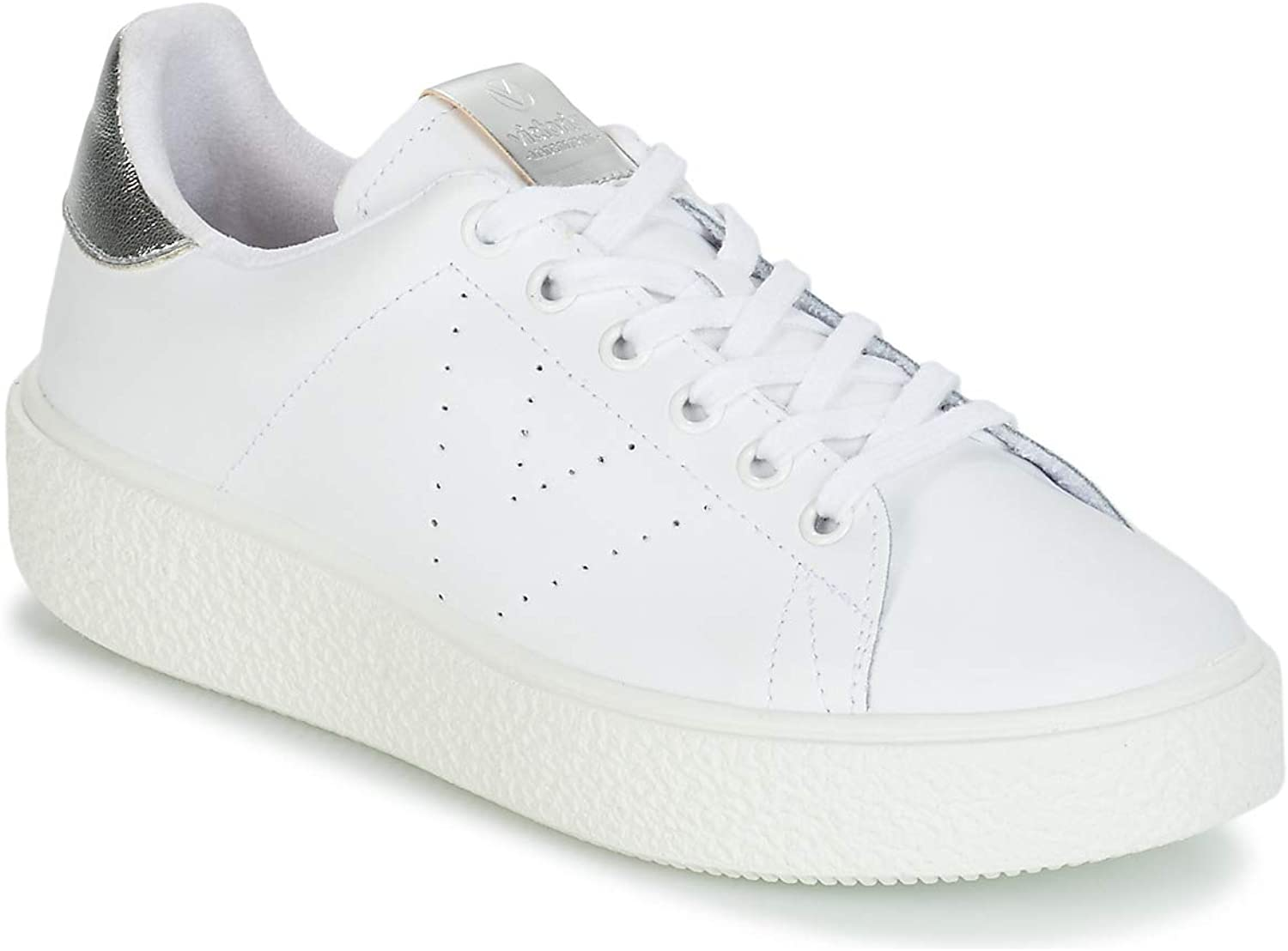 Victoria shoes Woman Low Sneakers with Platform 262115 Bianco-silver Size 37 White Silver