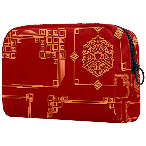Trousse de toilette personnalisée pour femme avec cadre rouge