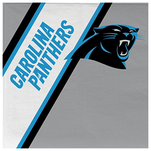 Duck House NFL Carolina Panthers Einweg-Papierservietten, 20 Stück
