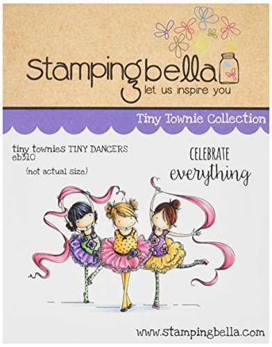 Stamping Bella Tiny Townie Dancers Lia, Zia & Pia Cling Rubber Stamp, 6.5' x 4.5'
