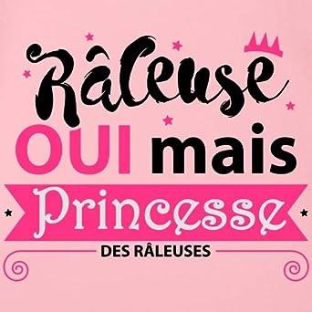Spreadshirt R/âleuse Oui mais Princesse Body B/éb/é Bio Manches Courtes