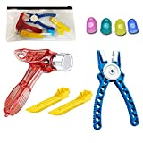 Teklectric Toys   Building Block Tool Kit   Compatible with Lego Blocks and Technic   Brick Separator, Multi-Use Hammer, Finger Grips and Block Pliers (Tool Kit)