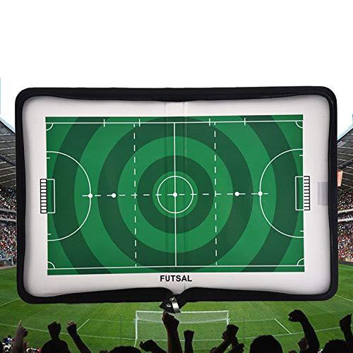 RoseFlower Fußball Taktiktafel Trainer Taktikmappe Bewegliche magnetische Fußball taktisches Brett Coach Brett Demonstration Board Taktische Befehls-Übung