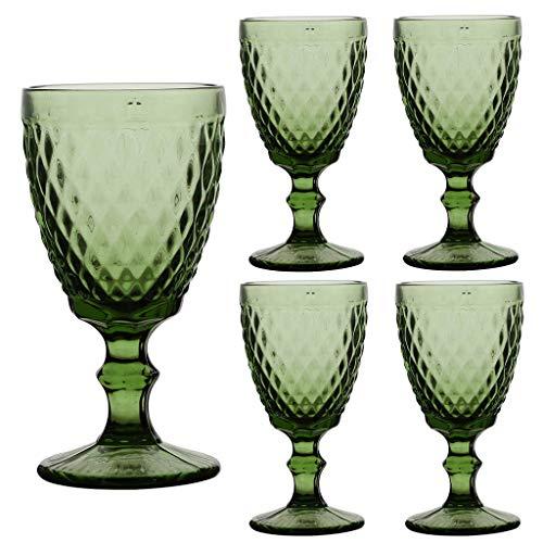 Lot de 4 verres à vin de luxe 100 % sans plomb à tige courte 24 cl tulipe