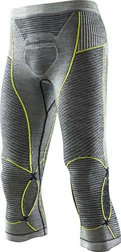 X-BIONIC Legging Apani en Laine mérinos par Fastflow Man UW M pour Homme XXL Noir/Gris/Jaune.