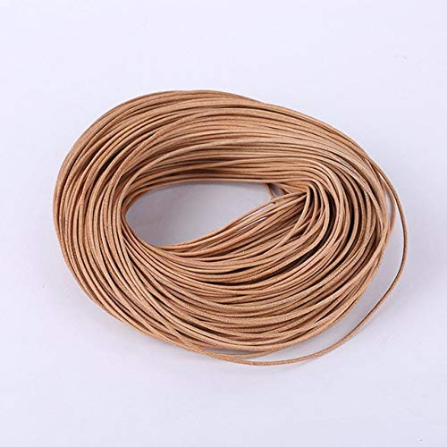 2M Negro/marrón/café 1/1,5/2 / 2,5/3/4/5/6 / 8mm Redondo de Cuero Genuino cordón de joyería Cuerda de Encaje DIY Collar Pulsera Encontrar