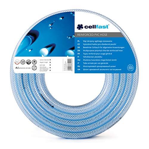 Cellfast Universalschlauch mit Einlage, flexibler PVC Schlauch mit Textilverstärkung zum Durchleiten unter Druck, 10x3mm, 5m, 20-185