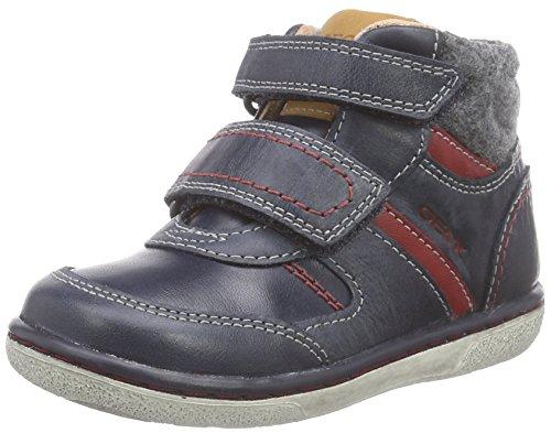 Geox Baby Jungen B Flick Boy B Sneaker, Blau (C4075DK Navy/RED), 22 EU