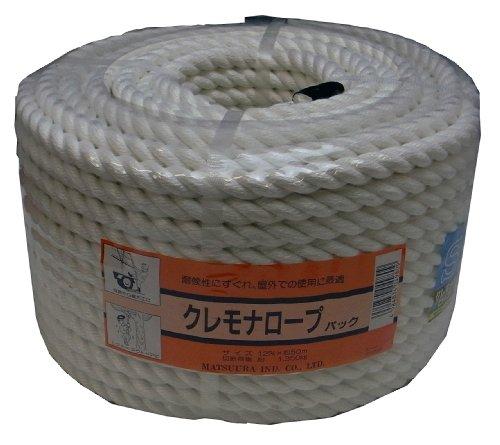 まつうら工業 クレモナS ロープ 太さ12mm 長さ50m 丸巻パック