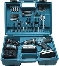 Makita HP457DWE10 Taladro percutor 2x18 V 1,3Ah Li, maletin y 74 accesorios incluidos