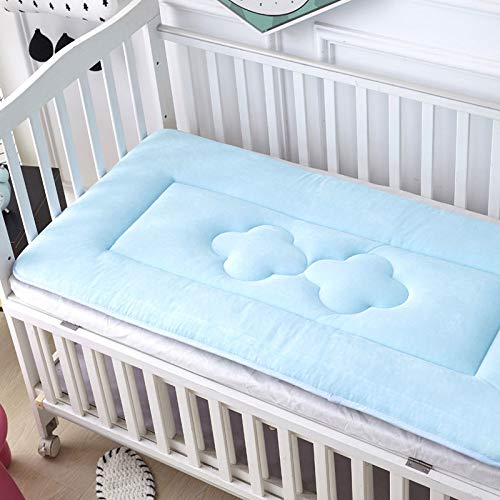 Great Deal! Baby Mattress, Thicken Crib Mattress Topper Foldable 4cm Breathable Soft Reversible Matt...
