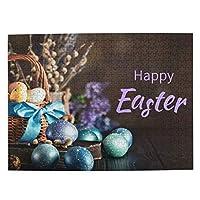 Happy Easter Egg 復活祭 可愛い動物柄 500ピース ジグソーパズル 木製 パズル 子供用 大人用 初心者向け ギフト プレゼント 減压 パズルのピース 完成サイズ(52.2cm *38.5cm)