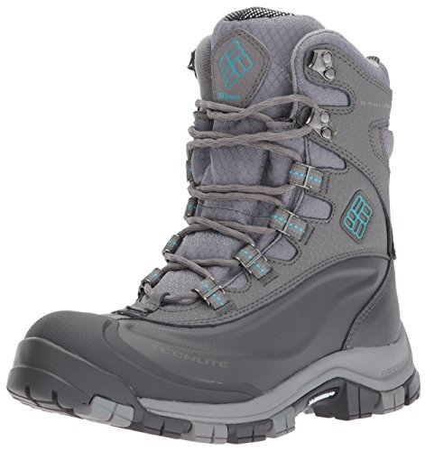 Columbia Women's Bugaboot Plus Omni-Heat Michelin Snow Boot, Quarry, Pacific Rim, 6 B US