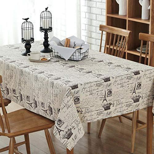 Katoen linnen patroon eettafel stofdicht hotel textiel 140cm X140cm