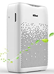Aiibot Air Purifier, Slaapkamer Appartement, Ionisator, 55 m2, Real HEPA Combo Filter, Quiet Sleep Mode, 3 Wind Speed, Against Dust, Smoke, Odors, Allergieën, Pollen en Pet Dander (EPI-White)*