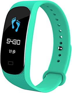 WTYD Smartwear M5 0.96 inch Color Screen Smartband Smart Bracelet, IP67 Waterproof, Support Sports Mode/Call Reminder/Sleep Monitor/Blood Pressure/Heart Rate Monitor (Black) (Color : Green)