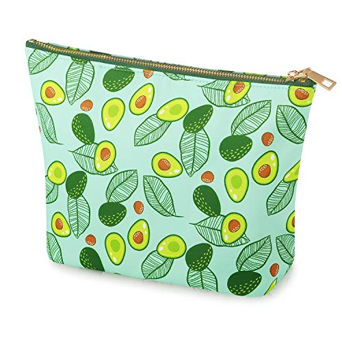 FOREGOER Nylon Large Makeup Bag Clutch Pouch Cosmetic Toiletry Bag for Women