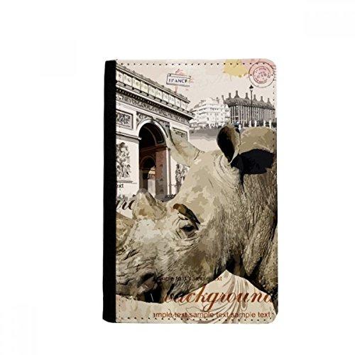 Porta-passaporte francês Paris estilo europeu capa Notecase Burse carteira porta-cartões