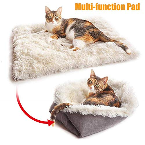 favourall winterwarmes Katzenbett/Matte, Faltbare Katzen-Haustier-Plüschbett-Katzen-Hundematratze, 61 × 51 cm Brilliant
