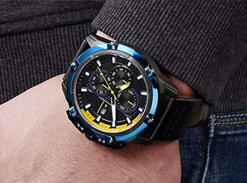 Voigoo Sport-Uhr-Männer Art und Weise kreative Top-Marken-wasserdicht Leder-Quarz-Armbanduhr Casual Male Uhr Relogio Masculino