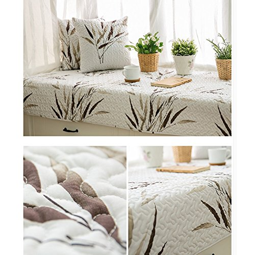AMYDREAMSTORE Non-Slip Tatami Mat Rugs Retro Bay Window Cushion Cover Seats sill pad Cotton for Living Room Bedroom-B 70x210cm(28x83inch)
