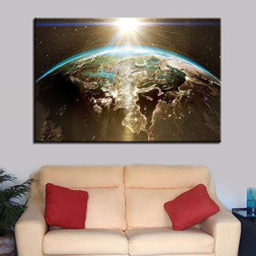 wZUN Lienzo Pintura Pared Arte póster Universo Planeta HD impresión imágenes decoración del hoga